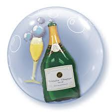 BUBBLE BALLON CHAMPAGNEFLES