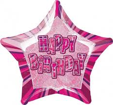 ster roze happy birhtday