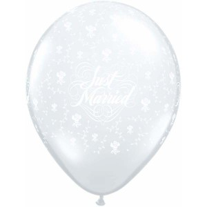 Qualatex ballon just married flowers