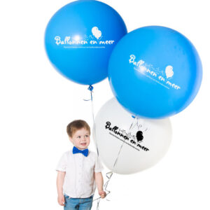 cute little boy with large balloons