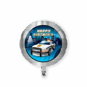 Folieballon 'HBD' police party