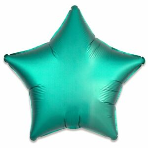 Folieballon ster satin jade