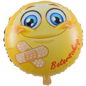 Folie ballon smiley beterschap