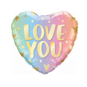 love you pastel ombre en hearts