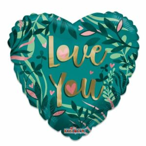 Folieballon ECO love green